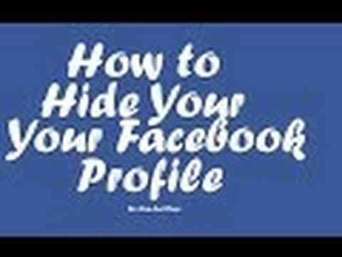 How to hide facebook profile from public / how to hide facebook profile from unknown