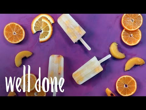 How To Make Deep Eddy Fuzzy Navel Vodka Popsicles | Recipe | Well Done