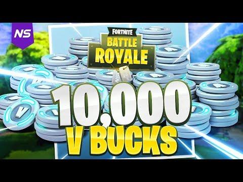 SURPRISING YOUNG KID WITH 10,000 VBUCKS! (Fortnite Battle Royale)