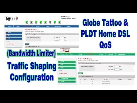 How to configure QoS Traffic Shaping on Globe modem Prolink h5004nk