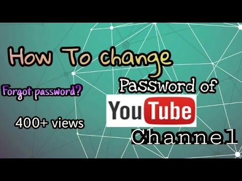 How To CHANGE YouTube PASSWORD In ANDRIOD/iOS.