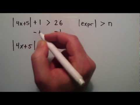 How to Solve an Absolute Value Inequality ( Example 4 ) , Intermediate Algebra , Lesson 54