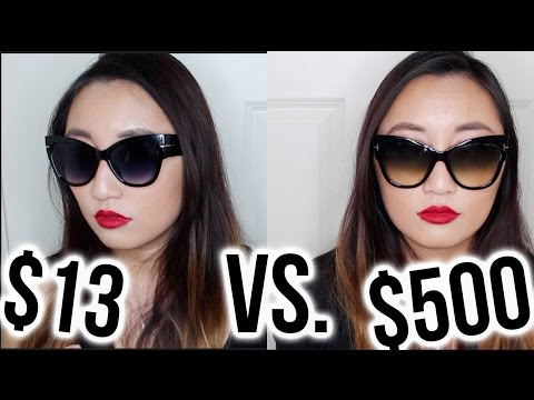 $13 Sunglasses VS. $500 | Tom Ford Anoushka Dupes