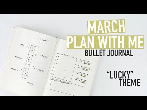 Bullet Journal PLAN WITH ME March 2018 | LUCKY THEME