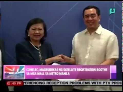 News@1: COMELEC, magbubukas ng satellite registration booths sa mga mall sa Metro Manila