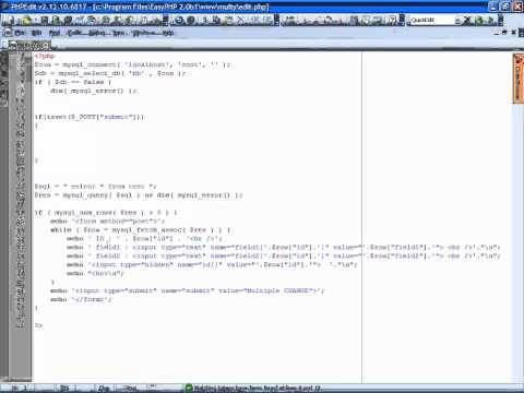 update & delete multiple records PHP mysql tutorial [ENG]