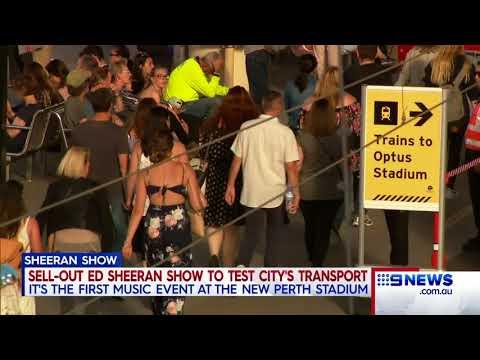 Ed Sheeran concert | 9 News Perth
