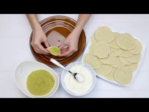 Simple Ricotta Stuffed Atayef Dessert
