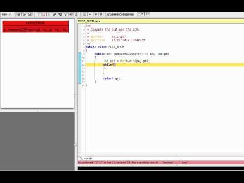 Java for 3GTG -  GCD / PGCD search algorithm