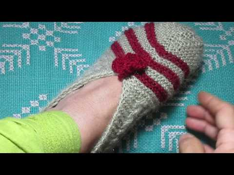 Knitting Easy Room Slippers[Hindi]