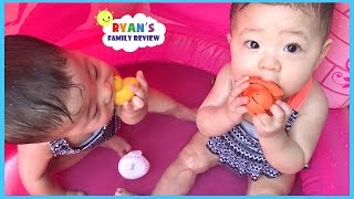 Babies and Kids Family Fun Pool Time with Rubber Ducky! Ryan