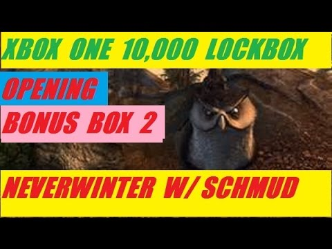 Xbox One 10,000 Lock Box Open Bonus Box 2 Neverwinter With Schmudthedarth