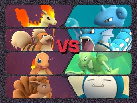 Pokémon GO Gym Battles Level 4 Gym Charmander Growlithe Vulpix Golem Lapras & more