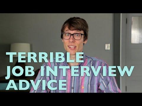 Terrible Job Interview Advice