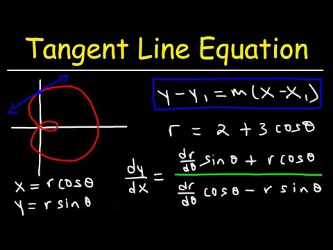 Tangent Line Equations, Slope, & Derivatives In Polar Form
