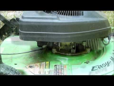 Broken Throttle Cable on Our Old Lawn Mower - Temporary Fix
