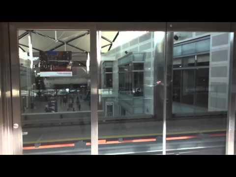Train at Detroit's airport