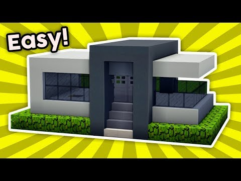 Minecraft : How To Build a Easy Small Modern House [#3] (PC/XboxOne/PS4/PE/Xbox360/PS3)