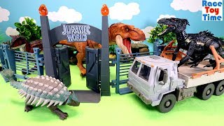 Jurassic World Dinosaurs Park Toys For Kids  - Indoraptor T-Rex Dinos