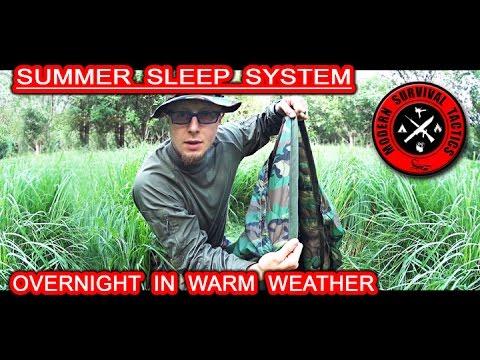 Poncho liner (Woobie) summer sleep system / OVERNIGHT IN WARM WEATHER