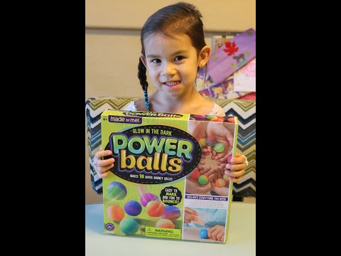 Made By Me Glow-in-the-dark Power Balls kit made by Princess Elsa MiaTubeHD