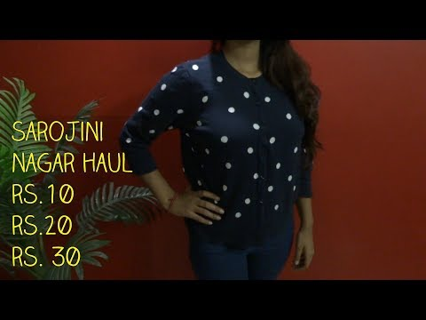 Sarojini Nagar monday market haul || ₹ 10 clothes||₹ 20 clothes|| Best Shopping Ever