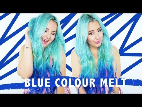 How To: Blue Colour Melt Hair Tutorial! | by tashaleelyn