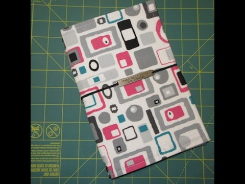 How I Make My Fabric Travelers Notebook (Fauxdori with finished edges)