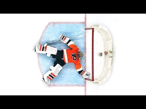 Michal Neuvirth Collapses - Stretchered Off Ice - April 1, 2017 (HD Dual-Feed)