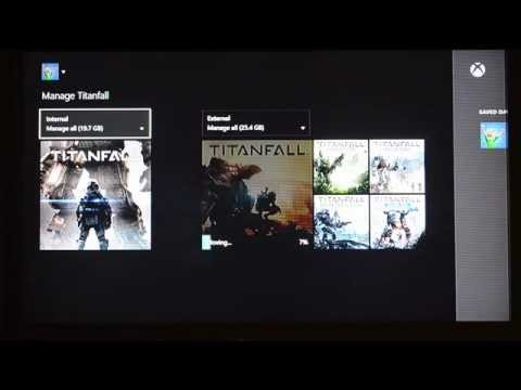 Xbox One Internal to External Storage Move