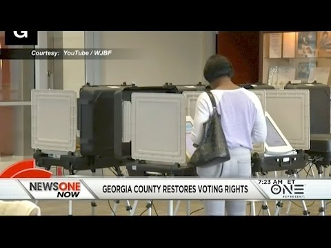 Black Voters In Georgia Voting Rights Restored After Being Purged From The Voter Rolls