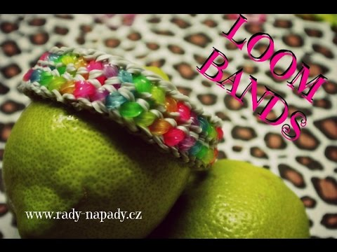 Náramek z gumiček LOOM BANDS double capped dragon scale advanced