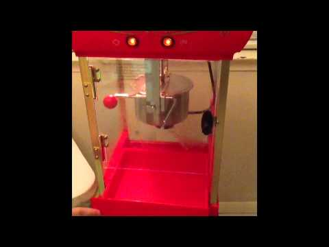 How to Use A popcorn machine.