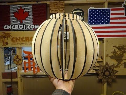 Custom Slot Lamps: CNC Laser Cutting 1/4