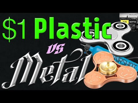 The ultimate fidget spinner spin-off. Metal vs Plastic!!!!!!