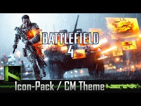 Battlefield 4 Android Icon Pack and CM/AOKP Theme