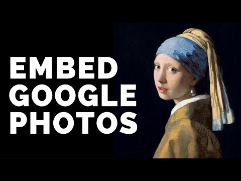 Embed Google Photos in your Website