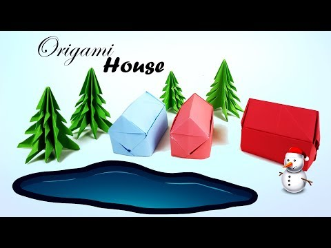Origami House  🏠 How to make an Origami House? Paper House! Dolls House ♥︎ DIY ♥︎ Origami House 3D