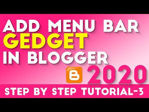 How To Add Menu Bar Gedget in Blogger Tutorial-3 Hindi/Urdu  2018 [desimesikho]