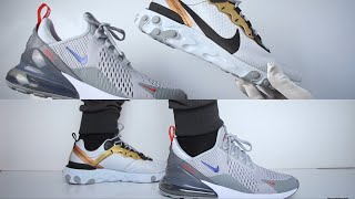 finest selection 5b18d be70e Nike Air Max 270 vs Nike React Element 55 (review) ON FEET COMPARISON
