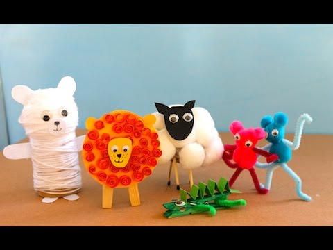 Five cute animal crafts to make