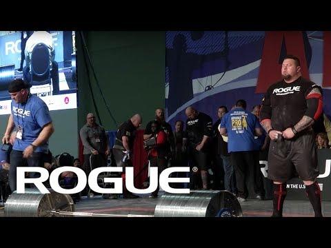 2018 Arnold Strongman Classic | Rogue Elephant Bar Deadlift - Full Live Stream Event 4