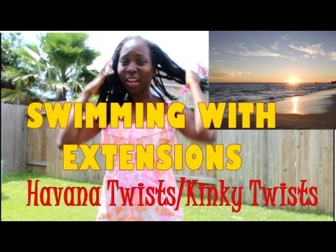 Swimming with Natural Hair | Extensions, Marley Braids, Kinky Twists
