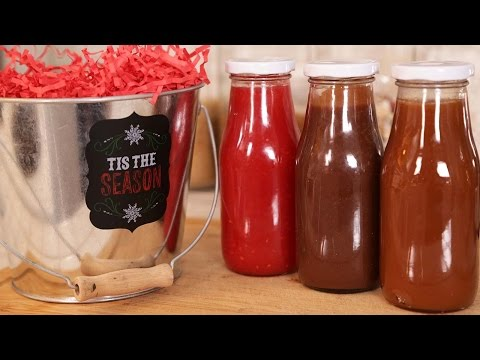 Salted Caramel, Chocolate Fudge & Raspberry Sauces | Edible Gifts
