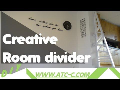 Creative room divider idea or partition wall // DIY