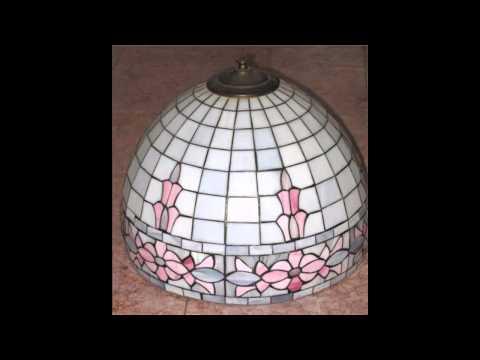 Art deco style lamp shades