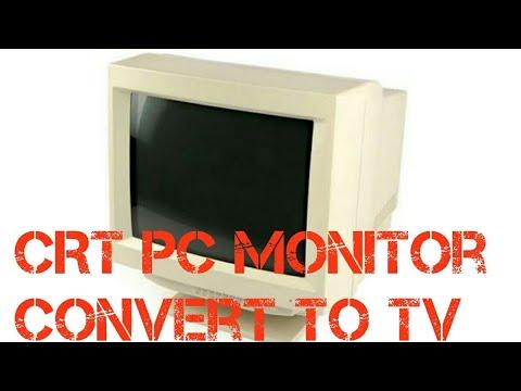 CRT monitor convert to TV