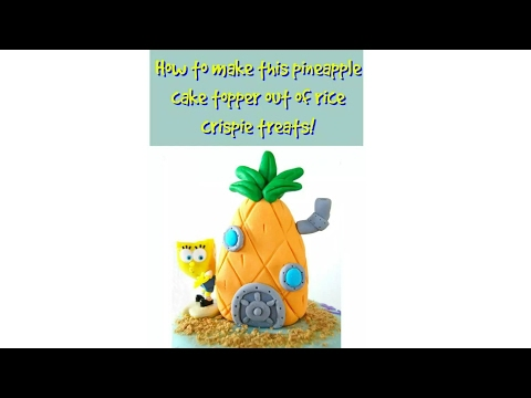 HOW TO MAKE AN EDIBLE SPONGEBOB PINEAPPLE HOUSE! - MISS TRENDY TREATS