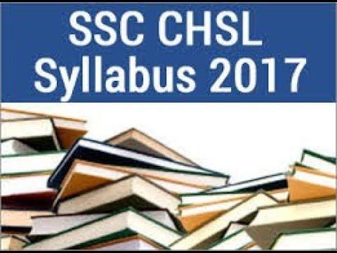 SSC CHSL 2017 Exam Syllabus (Group A)