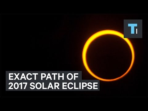 Exact path of next year's solar eclipse